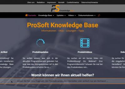 ProSoft Knowledge Base v3 - Startseite